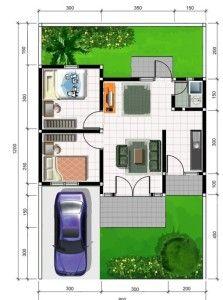 denah rumah minimalis type 45   minimalist home design