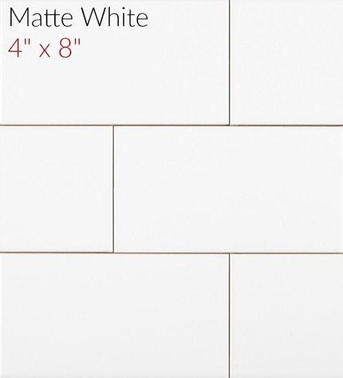 Metro Subway Tile Matte Finish White