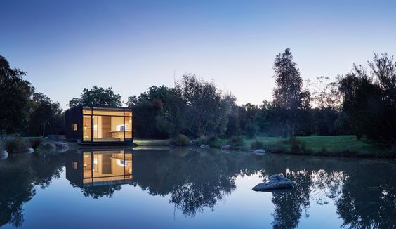 Vacation Architecture: A Low-Tech Lakeside Retreat in Australia - Azure Magazine