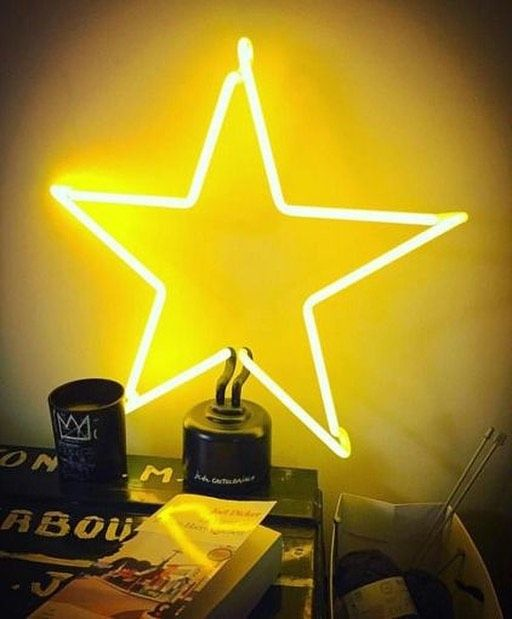 Yellow Star Aesthetic Yellowaesthetic Cool Staraesthetic Yellow Aesthetic Yellow Wallpaper Neon Lighting