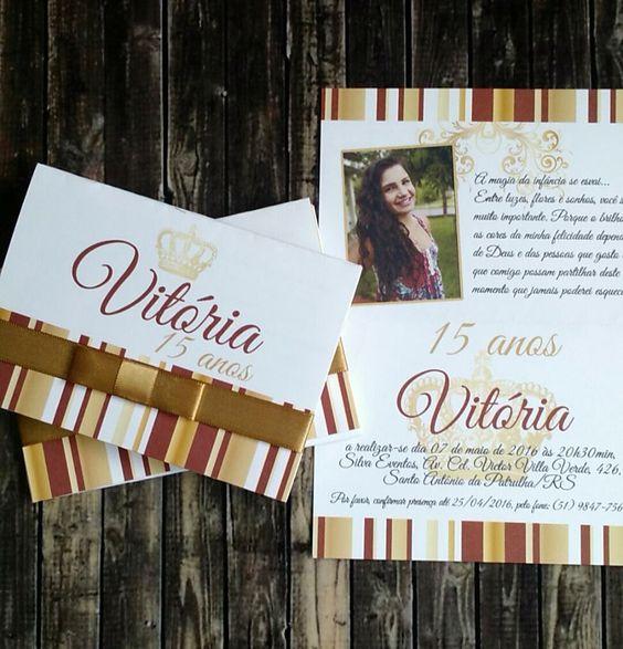 Convite Vitória 15 anos - RS!