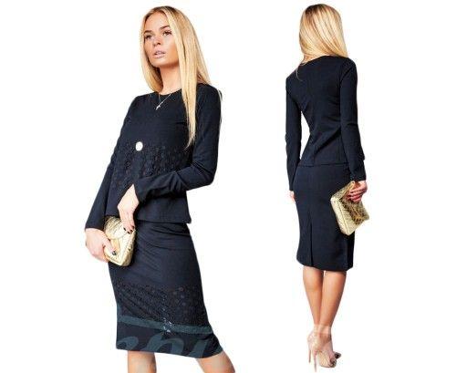 Elegancki Komplet Damski Bluza Spodnica S M L Xl 6126815664 Oficjalne Archiwum Allegro Fashion Dresses For Work Dresses
