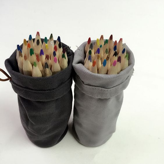 Colorful Pencil with Jute Bag. For more, go to website: www.millionpromos.com