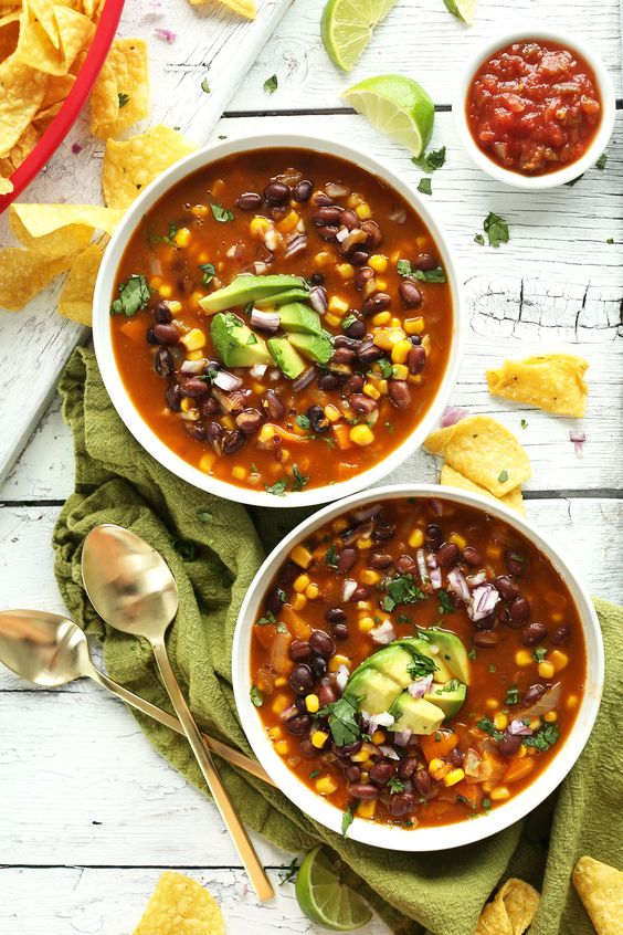 Black Bean Tortilla Soup   Recipe   Chipotle Black Beans, Tortilla ...