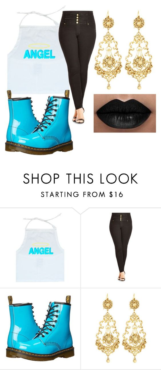 """""""angelic"""" by gracieplumridge ❤ liked on Polyvore featuring City Chic, Dr. Martens and Jose & Maria Barrera"""