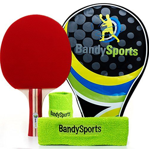 Premium Ping Pong Paddle Racket With Sweat Headwrist Bands Set Professional 5 Star Table Tennis Bat Table Tennis Table Tennis Robot Table Tennis Bats