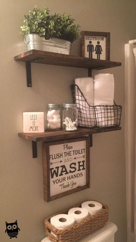 20 Small Bathroom Storage Ideas And Wall Storage Solutions Houseorganization In 2020 With Images Small Bathroom Storage Small Bathroom Decor Shelves Above Toilet