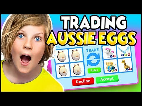 Trading Aussie Pet Eggs Only In Adopt Me Roblox I Gave Away Aussie Pets Free Youtube In 2020 My Roblox Aussie Roblox