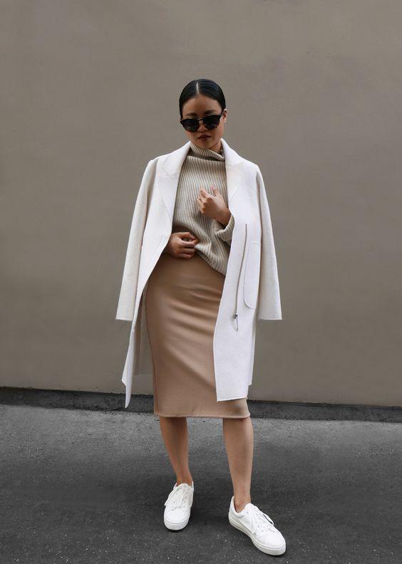 Как носить бежевый цвет в одежде - модные идеи с фото