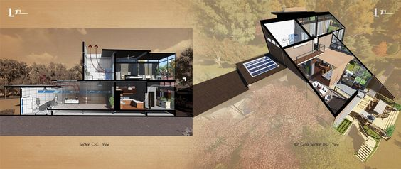 Section of Tewantin House designed by Me #architecture#section