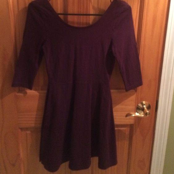 Express fit and flare Fit and flare dress with a zip back wore once Express Dresses Mini