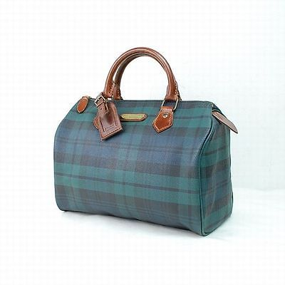 Authentic Polo Ralph Lauren Boston Bag Made in Thailand Greens PVC 30677