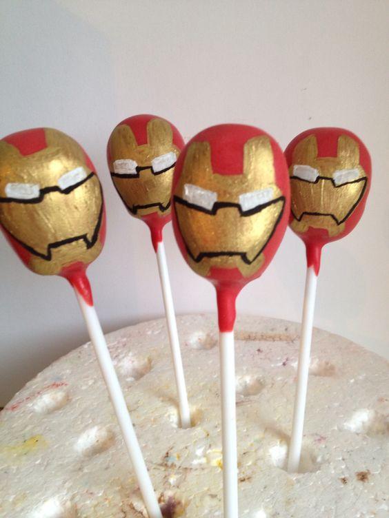 iron man cake pops cakes amp pies pinterest iron man