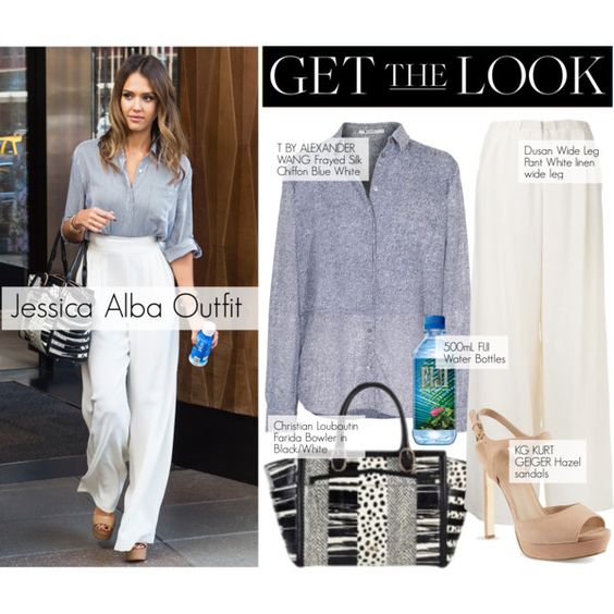 Get the look: Jessica Alba by lali22 on Polyvore featuring moda, T By Alexander Wang, Dušan, KG Kurt Geiger, Christian Louboutin, GetTheLook, jessicaalba and CelebrityStyle