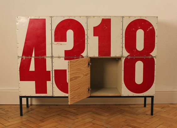 Gas Station Cabinets Made from Large Price Numbers