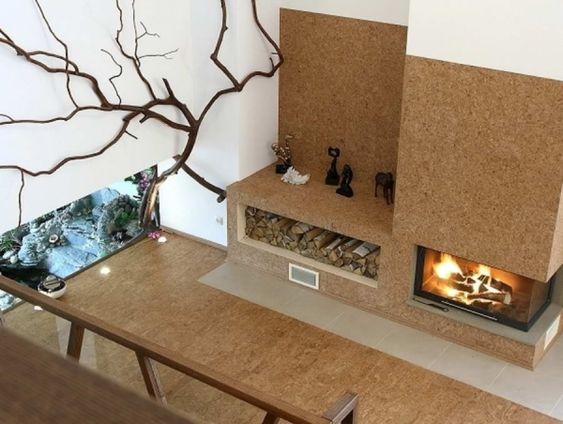 Moderne Wohnung Einrichtung Heizsystem ökologisch-wasserführend - design kaminofen gemauert bilder