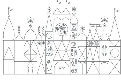 Related Image Disney Scrapbook Disney Coloring Pages Small World