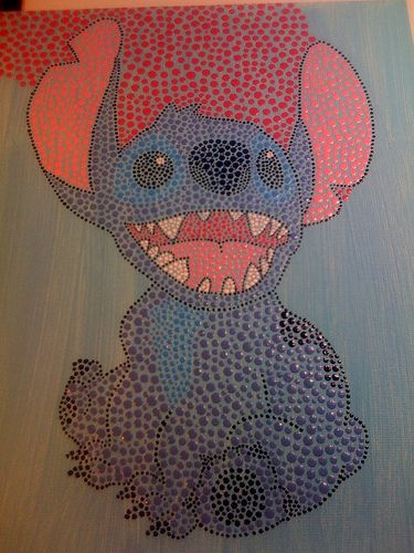dot painting of stitch - Google Search