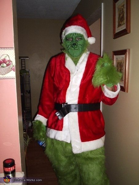 The Grinch Costume Pinterest Homemade Halloween