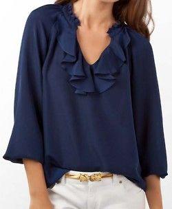 beautiful navy top