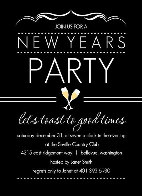 Free New Years Eve Invitation Templates New Year S Eve Party Themes New Years Eve Invitations Party Invite Template