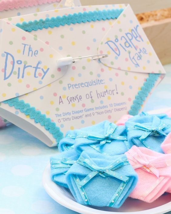 Its a girl its a boy and boys on pinterest for Baby shower diaper decoration game