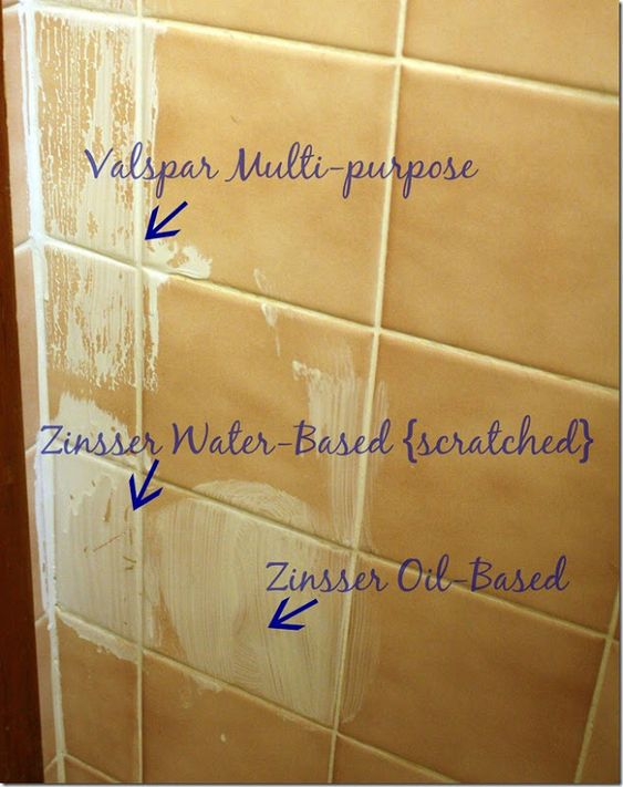 Painting bathroom tiles good riddance and painting tiles for Good tiles for bathroom