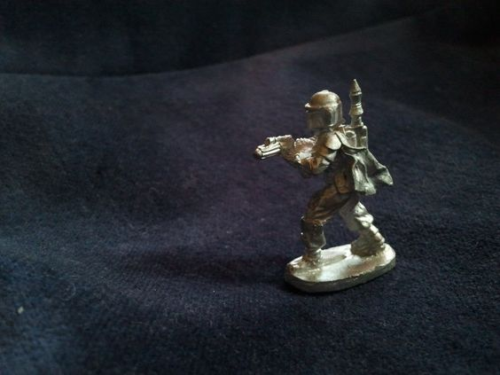 Boba Fett Vintage Lead Figurine, 1 inch/ 25mm in height, 1988.