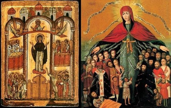 Orthodox Icons of the Intercession of the Theotokos