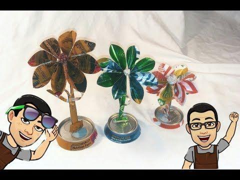 Como Hacer Una Flor Con Una Lata Youtube Como Hacer Flores Flores De Latas De Aluminio Como Hacer Arreglos Florales