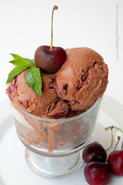 Roasted Chocolate Cherry Ice Cream