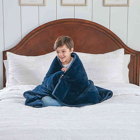 Therapedic 6 Lb Kids Weighted Blanket With Monkey Plush Toy In Navy Monkey Plush Toy Weighted Blanket Monkey Plush