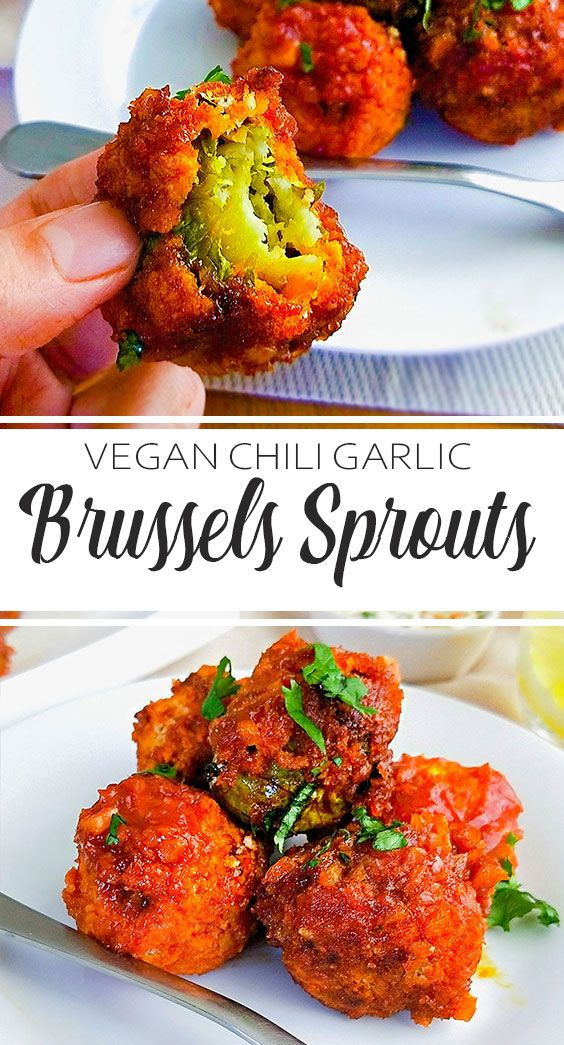 Chili Garlic Brussels Sprouts (vegan)