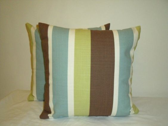 Pair Of 16 Inch Lime Green, Duck-Egg Blue, Chocolate Brown