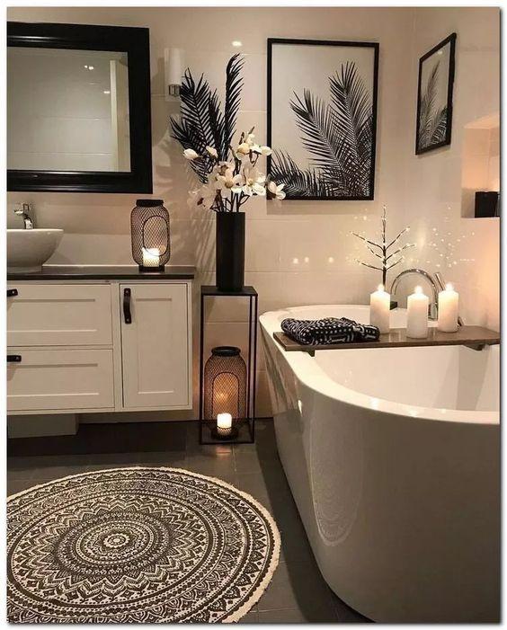 28 Luxury Small Bathroom Decorating Ideas #bathroomdecor #bathroomdesign #bathroomideas ~ Home And Garden