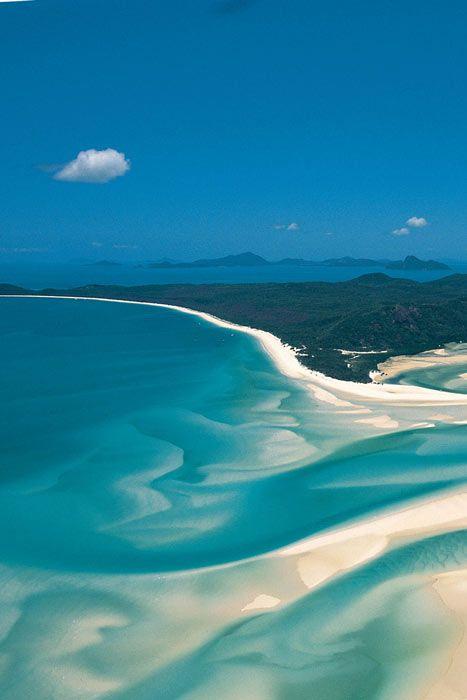 Whitehaven Beach, Australia. Australia is definitely high on the list as an adventure travel destination.