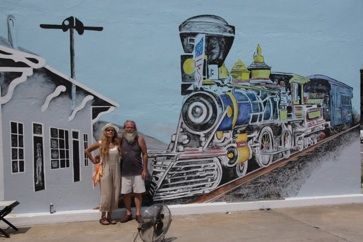 Virginia trains and artists on pinterest for Cleveland gas station mural