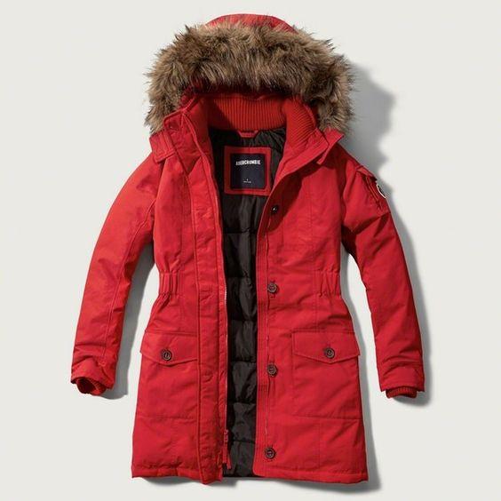 Red Parka Coat Womens - JacketIn