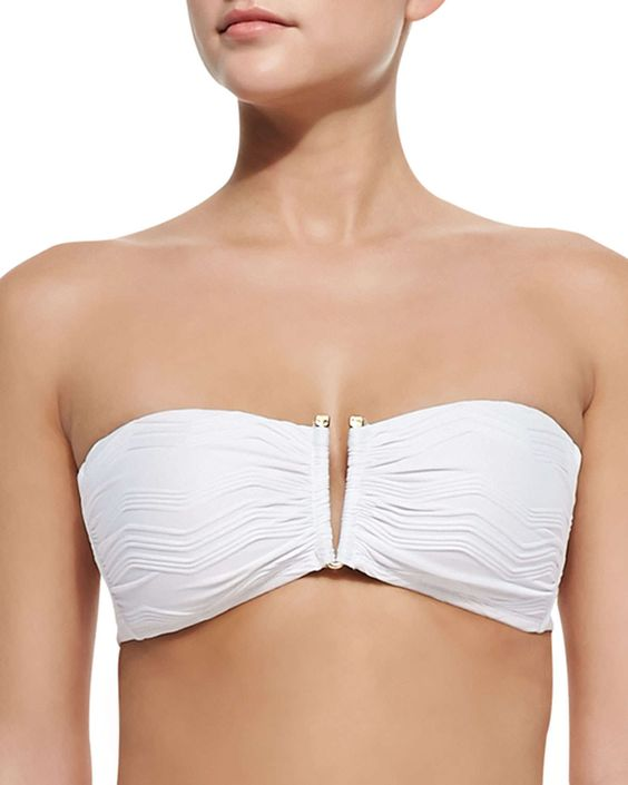 Powerplay Textured Bandeau Swim Top