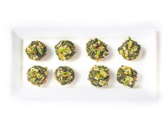 Spinach and Artichoke Stuffed Mushrooms - A healthy appetizer recipe