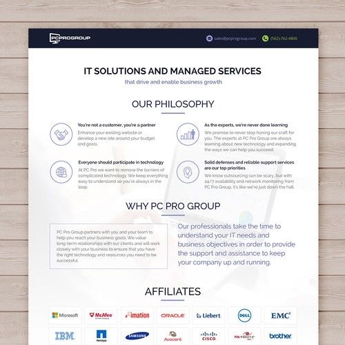 It Company Creative Line Card Template It Consulting Msp