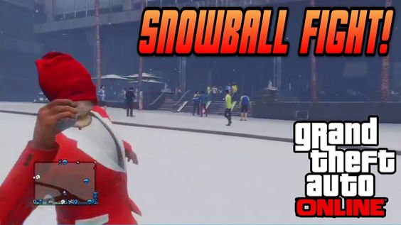 GTA 5 Online - Snowball Fight Gameplay - Snow In GTA 5 Gameplay! (Christmas Holiday DLC Update)