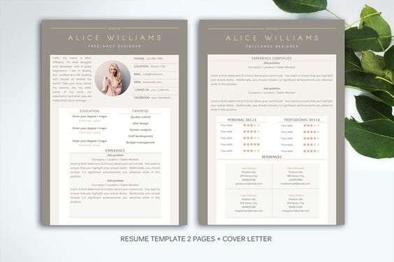 HDR Professional Resume 2 pages @creativework247 Resume - resume 2 pages