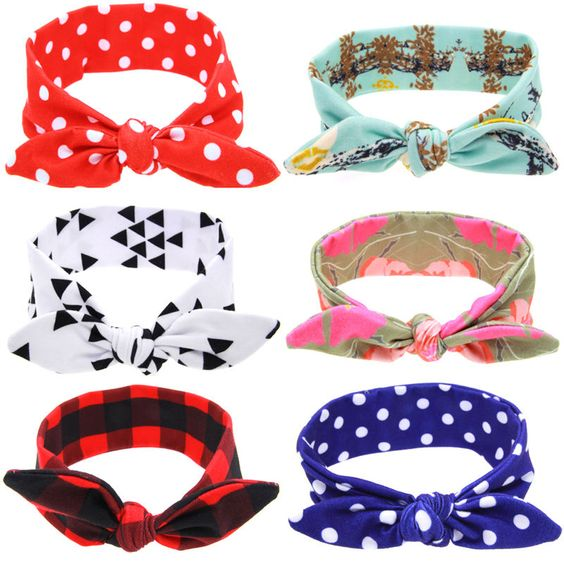 $0.97 (Buy here: http://appdeal.ru/3xyb ) 1 PC DIY Newborn Baby Kids Girls Bow Knot Headband Bunny Rabbit Ears Hairband Elastic Turban Bow Knot Head Wrap Hair Accessories for just $0.97