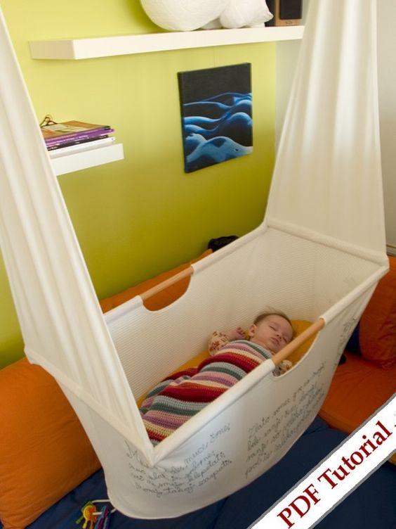 Die etwas andere Babywiege Hängebettchen, Hängematte, Babyschaukel DIY
