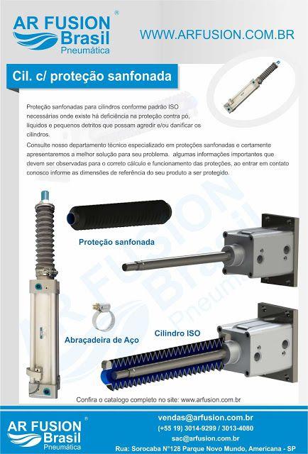 Cilindro ISO6431 com proteção sanfonada. atuador pneumático.