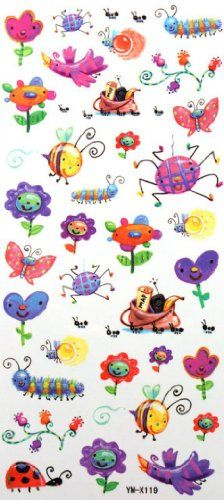 """Tattoo size 7.28""""x3.54"""" Children's cartoon long last and non toxic non-toxic realistic temporary tattoo sticker insects. Safe and non-toxic design ideal for body art. Professional grade made to last 3 to 5 days and easily transferred by water. Perfect for vacations, girls night, pool parties, bachelorette parties, or any other event you want to look glamorous."""
