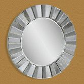 "Found it at Wayfair - ""Pleated"" Edge Decorative Mirror"