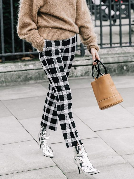 Try out these different check styles this spring!