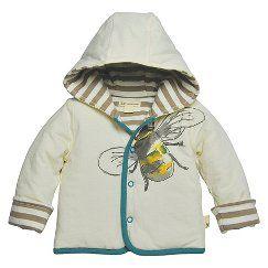 Burts Bees Baby™ Newborn Boys' Bee Jacket - Ivory 0-3 M
